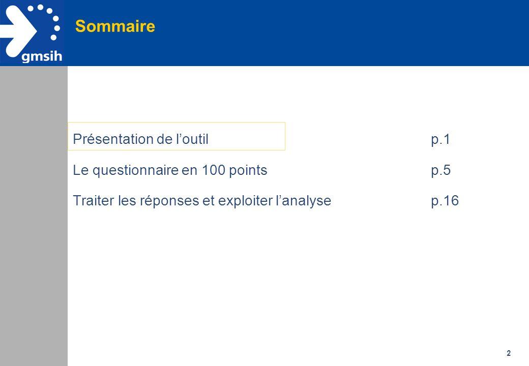 Sommaire Présentation de l'outil p.1