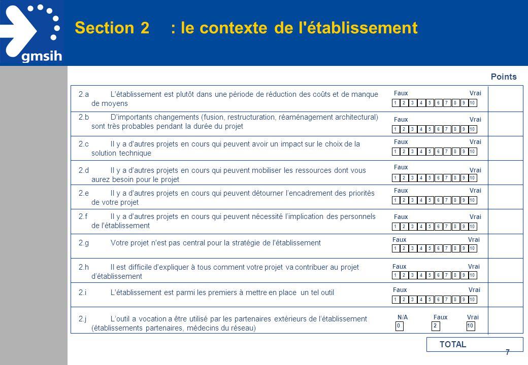Section 2 : le contexte de l établissement