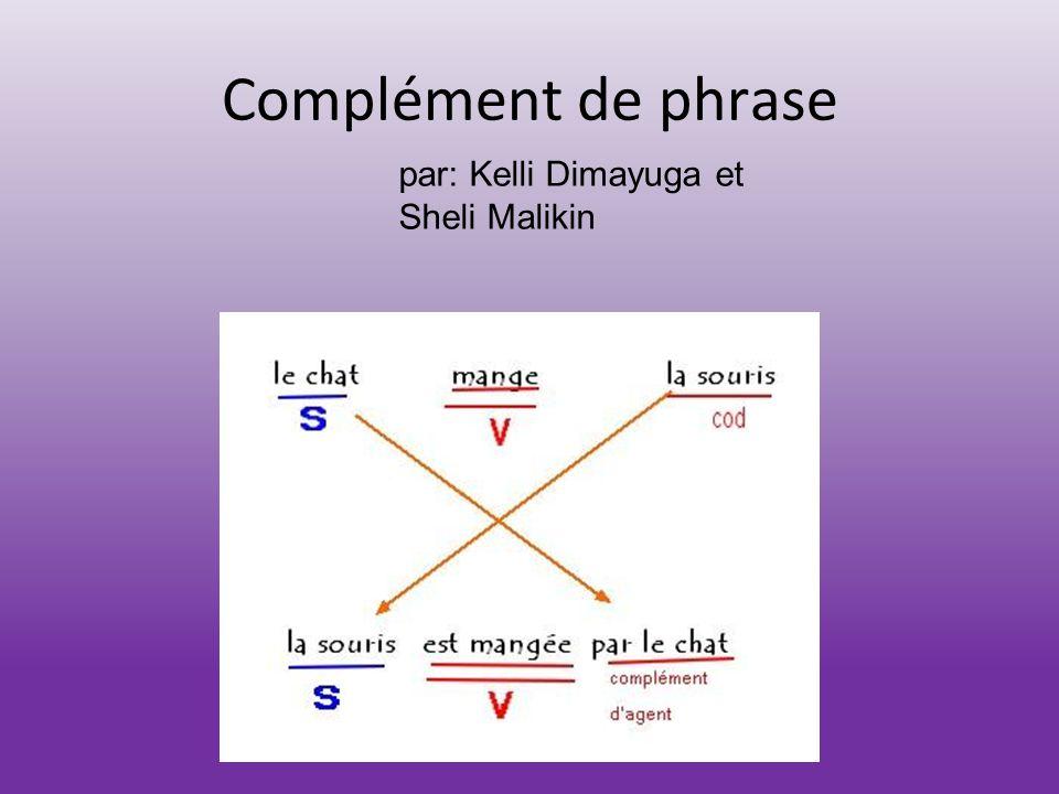 Complément de phrase par: Kelli Dimayuga et Sheli Malikin