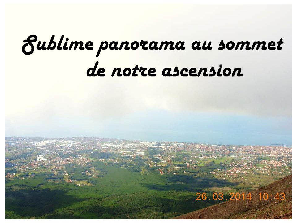 Sublime panorama au sommet
