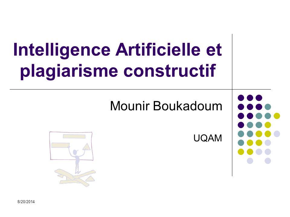 Intelligence Artificielle et plagiarisme constructif