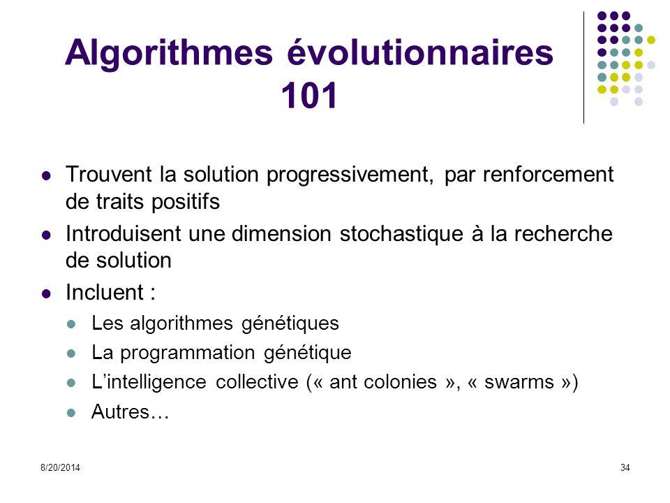 Algorithmes évolutionnaires 101