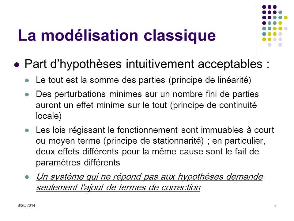 La modélisation classique