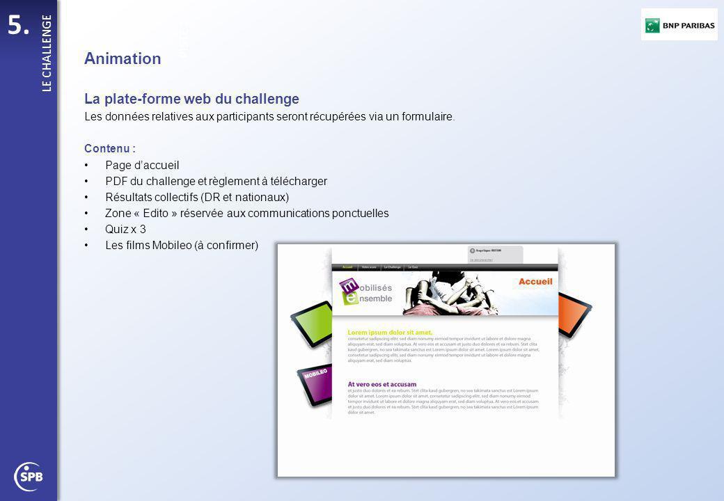 Animation La plate-forme web du challenge