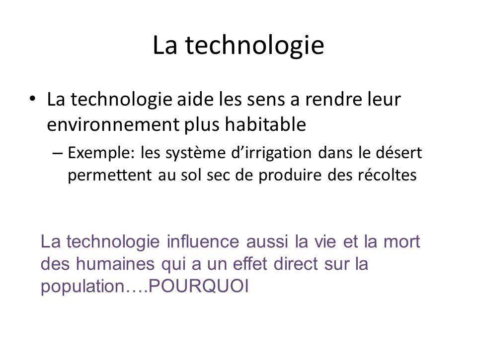 La technologie La technologie aide les sens a rendre leur environnement plus habitable.