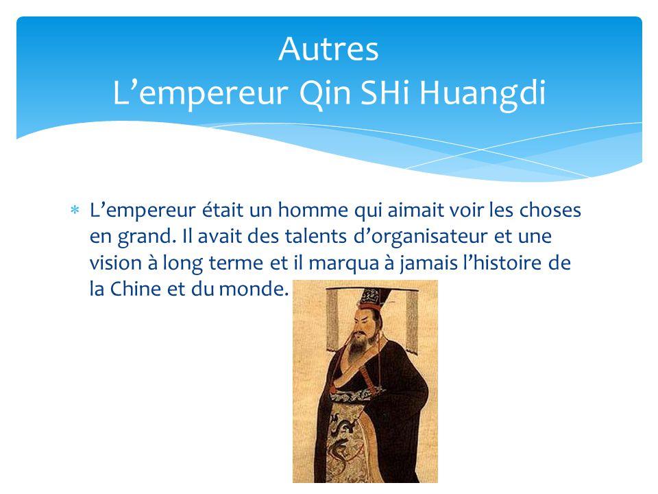 Autres L'empereur Qin SHi Huangdi