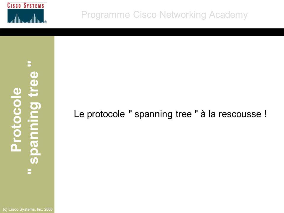 Le protocole spanning tree à la rescousse !