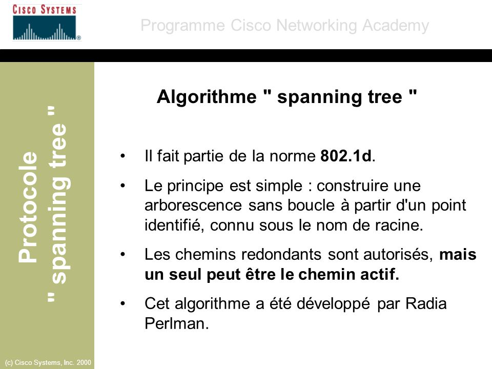 Algorithme spanning tree