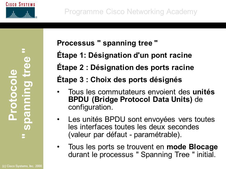 Processus spanning tree