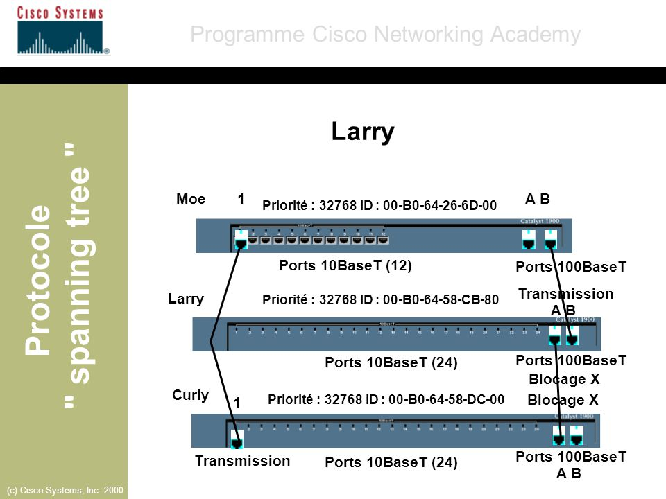 Larry Moe 1 A B Ports 10BaseT (12) Ports 100BaseT Transmission Larry