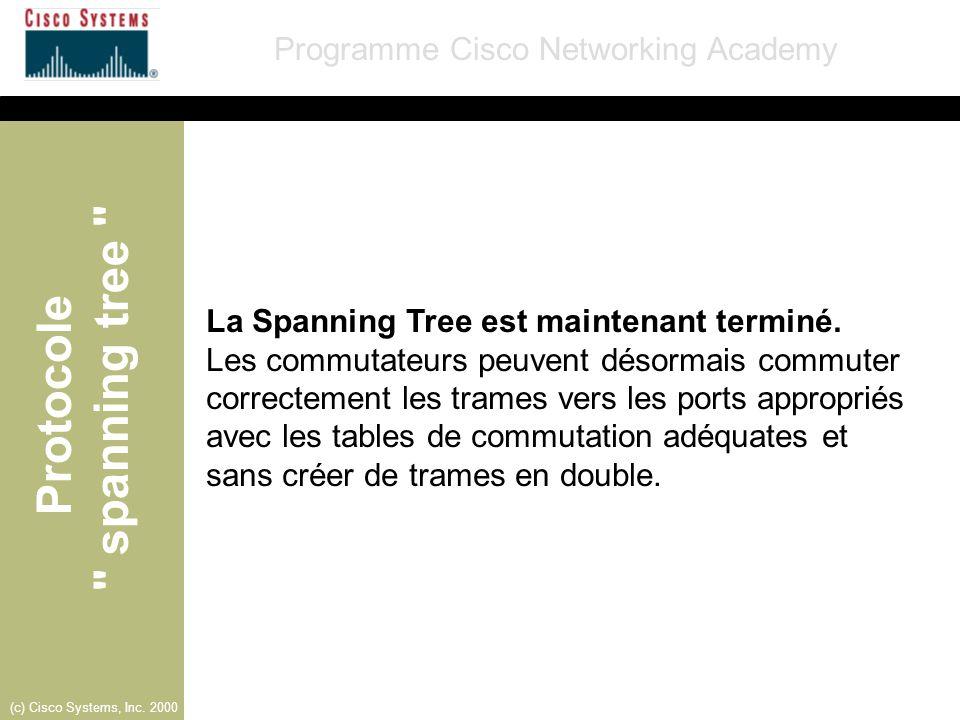 La Spanning Tree est maintenant terminé