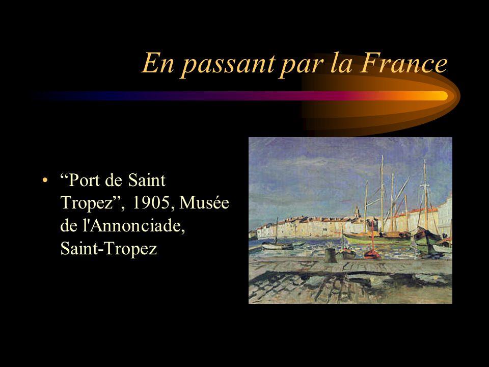 En passant par la France