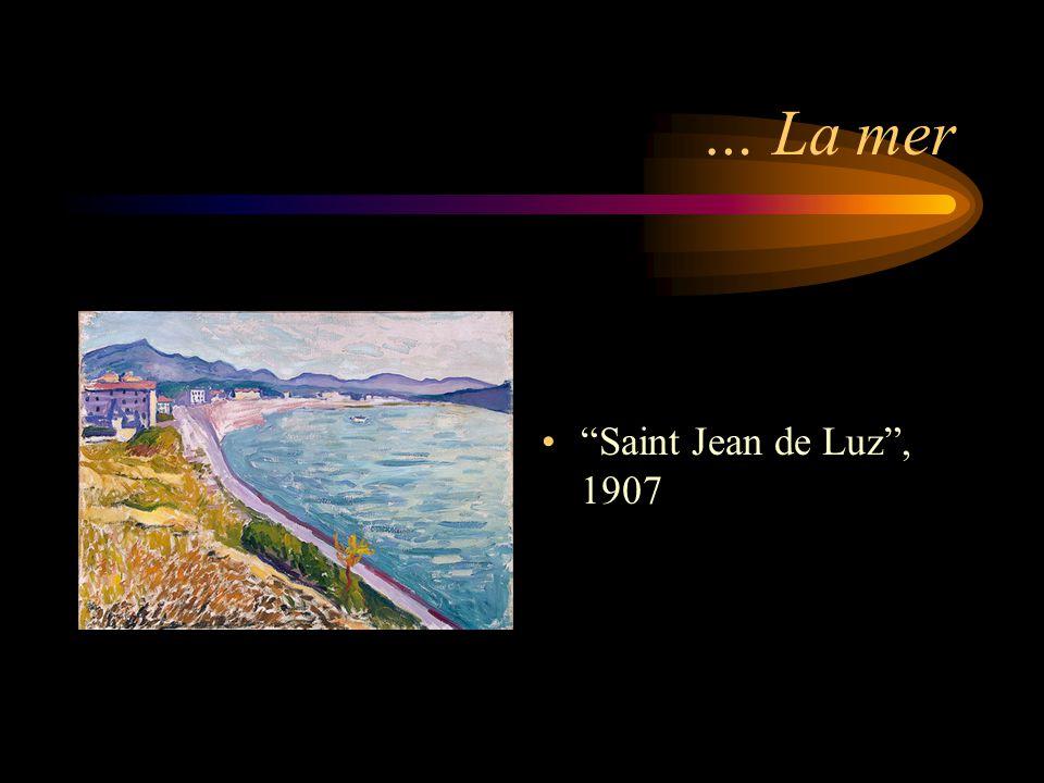 … La mer Saint Jean de Luz , 1907