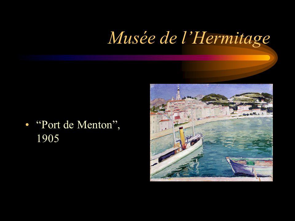 Musée de l'Hermitage Port de Menton , 1905