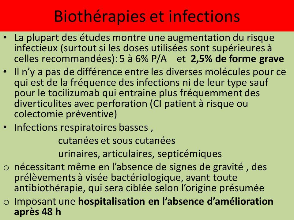 Biothérapies et infections