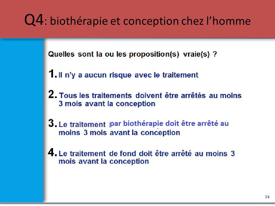 Q4: biothérapie et conception chez l'homme