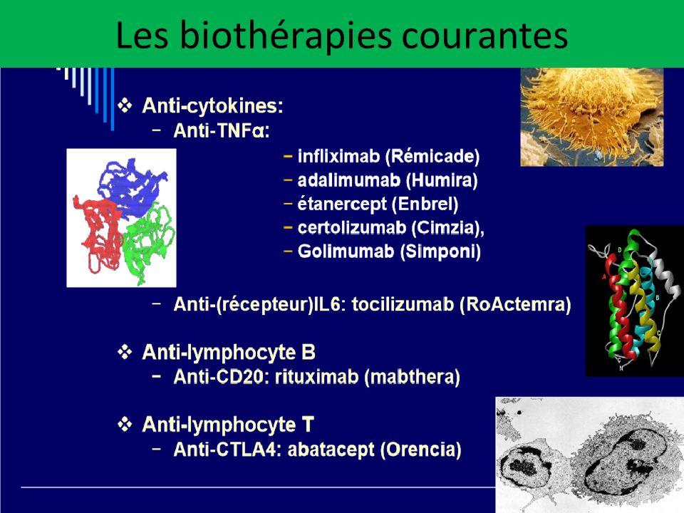 Les biothérapies courantes