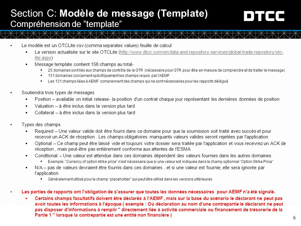 Section C: Modèle de message (Template) Compréhension de template