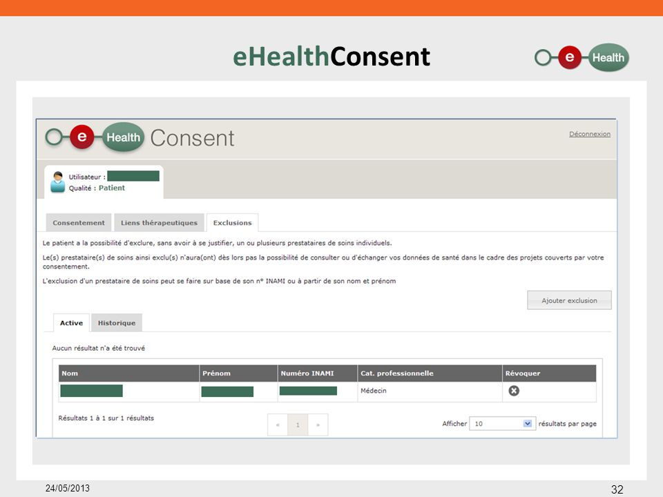 eHealthConsent 24/05/2013