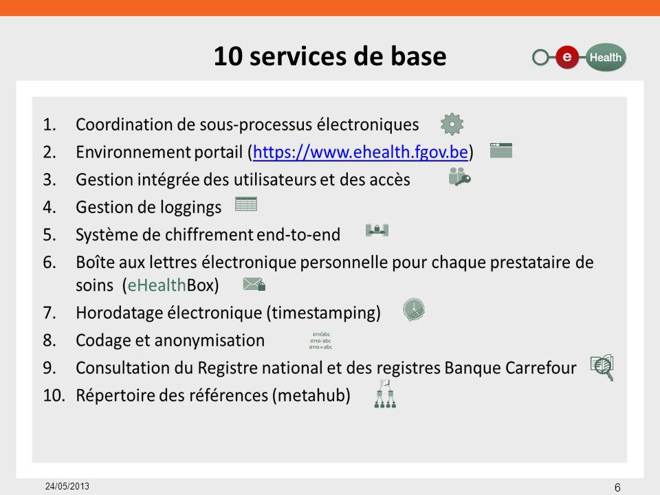 10 services de base 24/05/2013