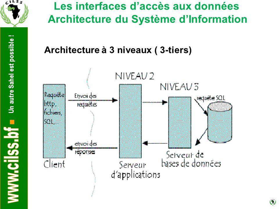 Les interfaces d'accès aux données Architecture du Système d'Information