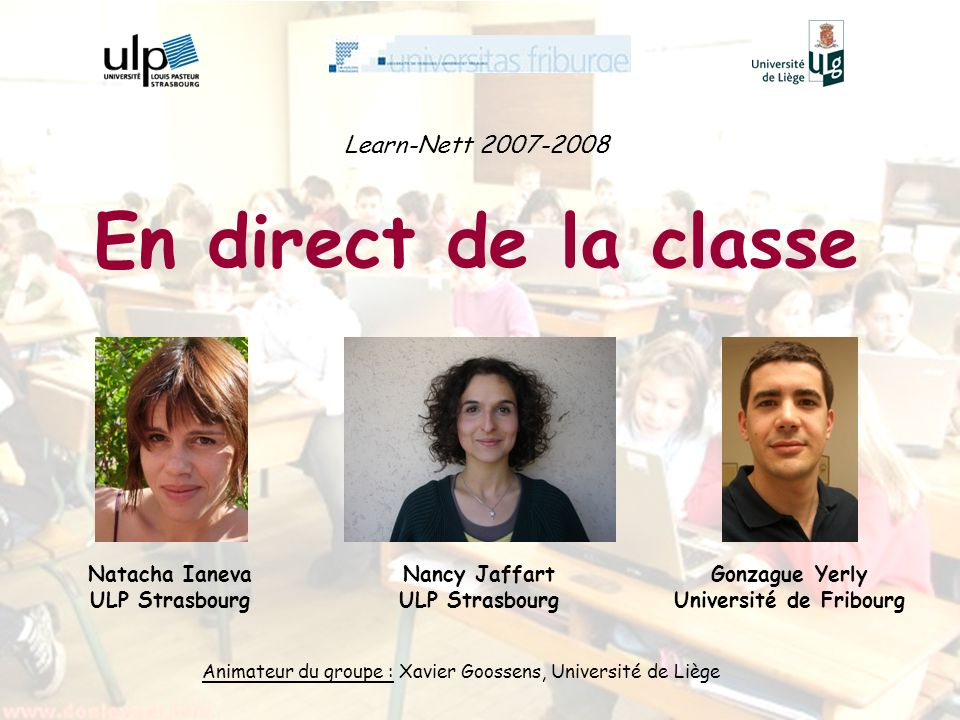 En direct de la classe Learn-Nett 2007-2008