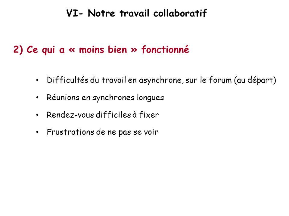 VI- Notre travail collaboratif