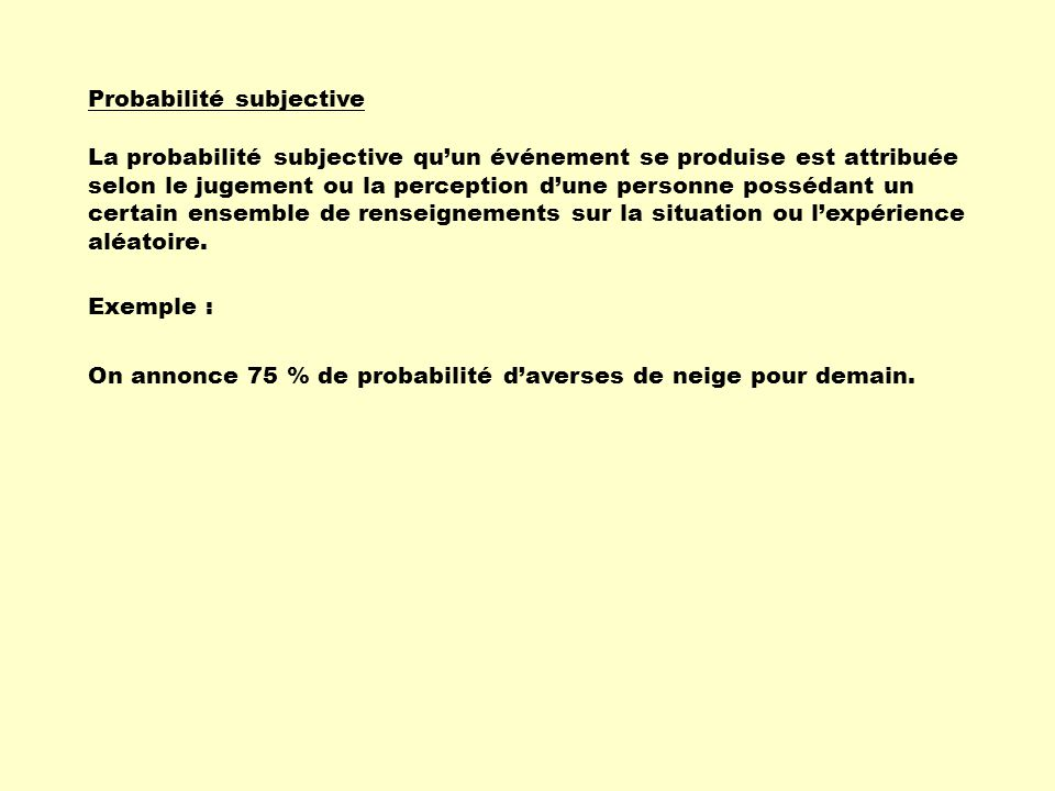 Probabilité subjective