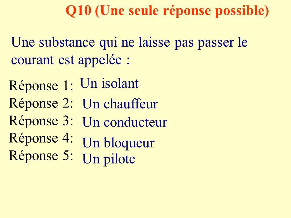 Q10 (Une seule réponse possible)