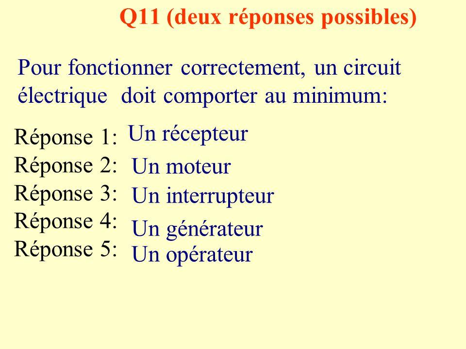 Q11 (deux réponses possibles)