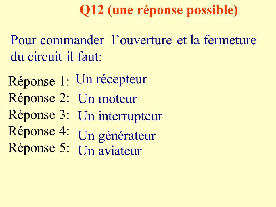 Q12 (une réponse possible)
