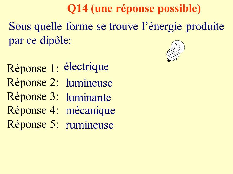 Q14 (une réponse possible)