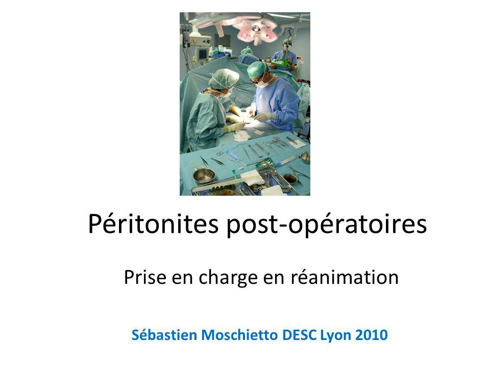 Péritonites post-opératoires