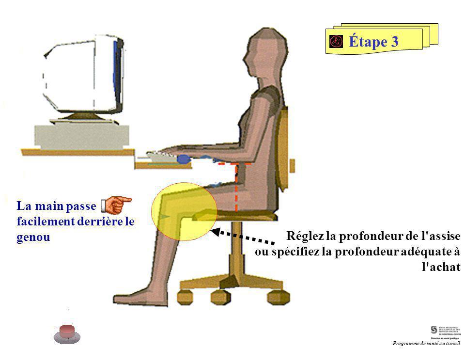 Étape 3 La main passe facilement derrière le genou