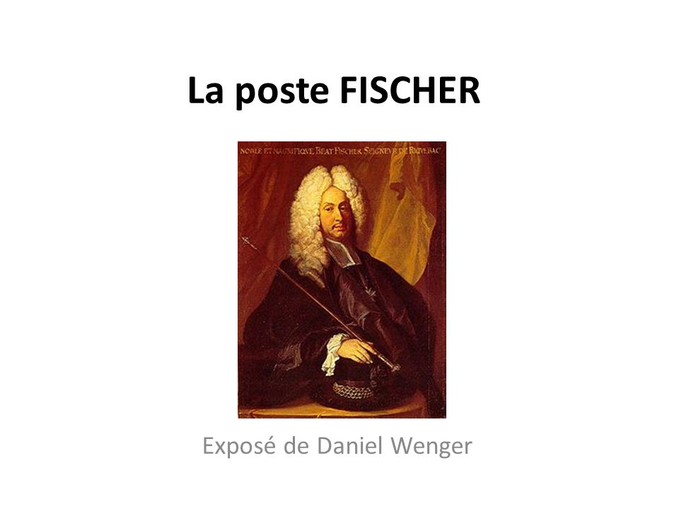 Exposé de Daniel Wenger