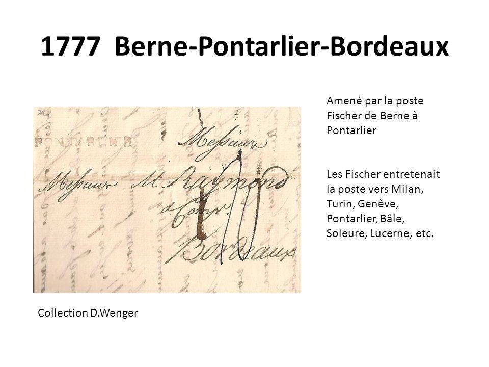 1777 Berne-Pontarlier-Bordeaux