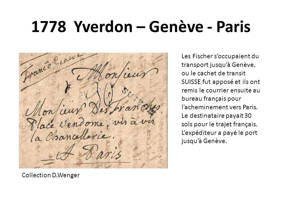 1778 Yverdon – Genève - Paris