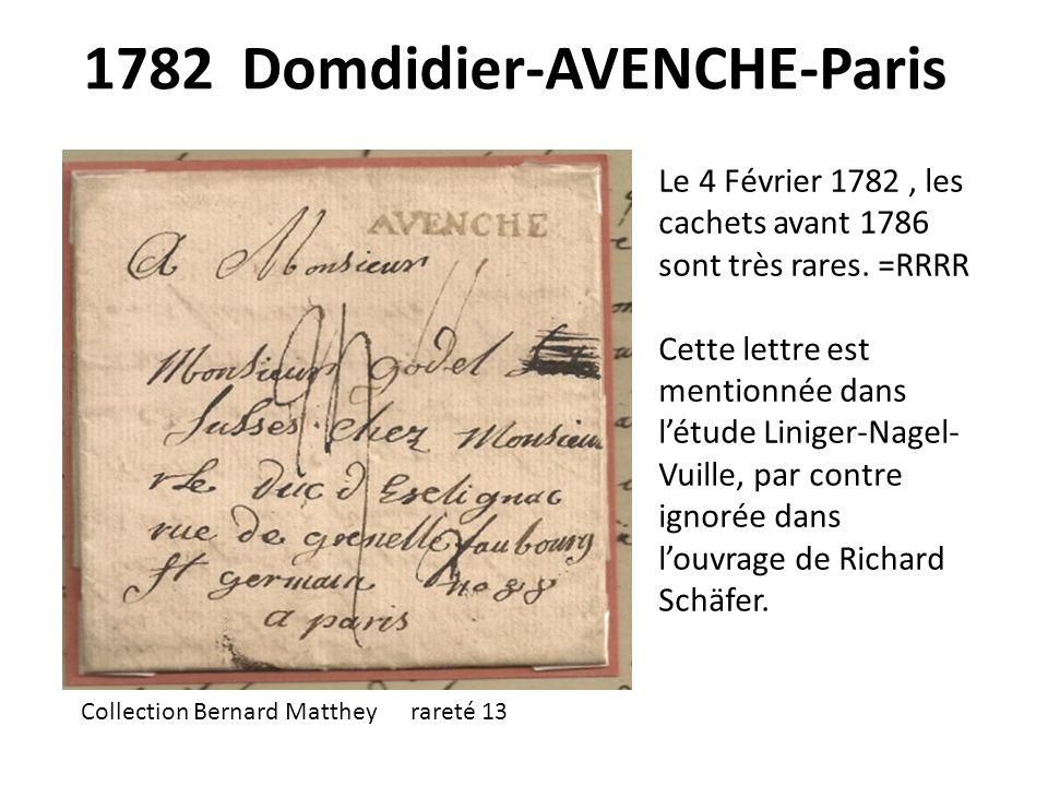1782 Domdidier-AVENCHE-Paris