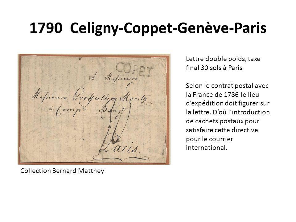 1790 Celigny-Coppet-Genève-Paris