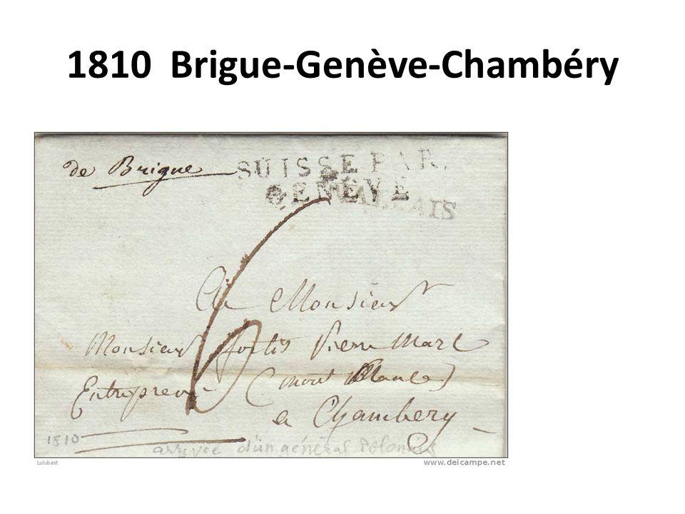 1810 Brigue-Genève-Chambéry