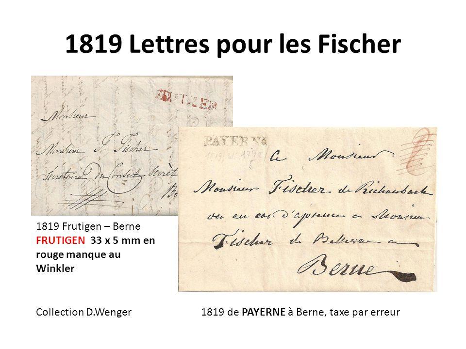 1819 Lettres pour les Fischer