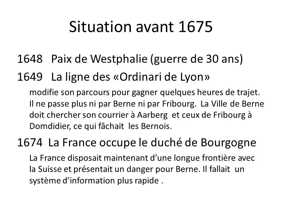 Situation avant 1675 Paix de Westphalie (guerre de 30 ans)