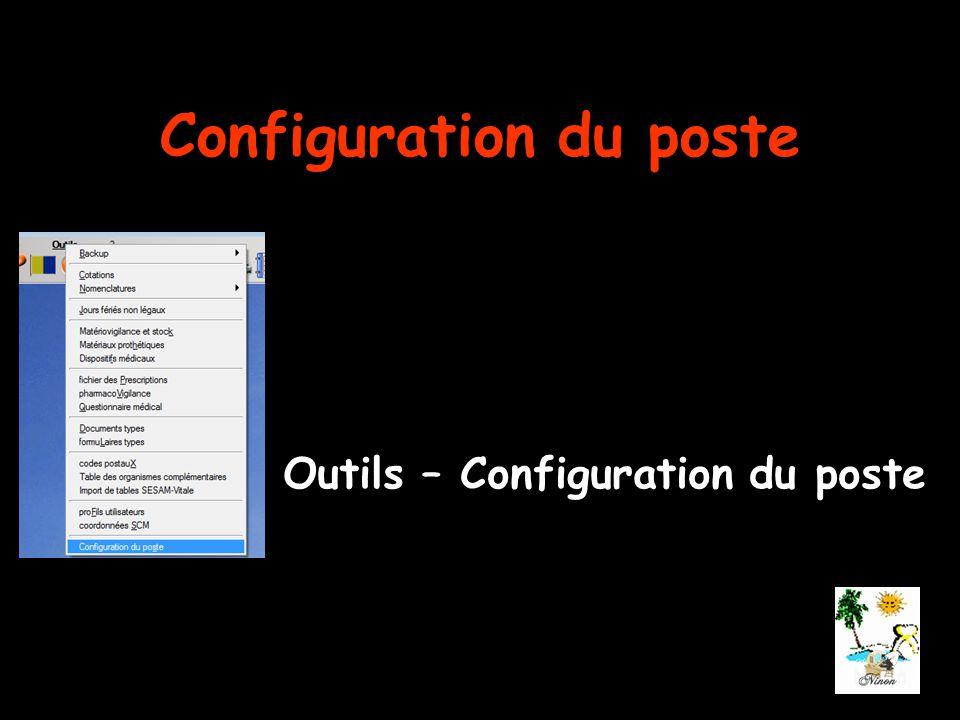 Configuration du poste