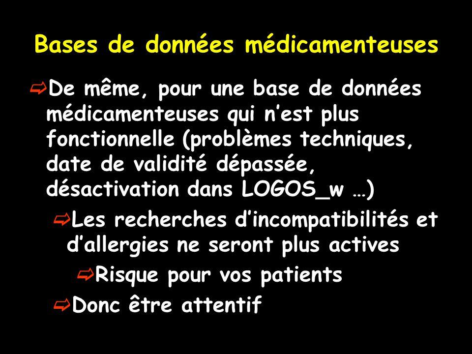 Bases de données médicamenteuses
