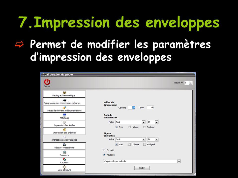 7.Impression des enveloppes