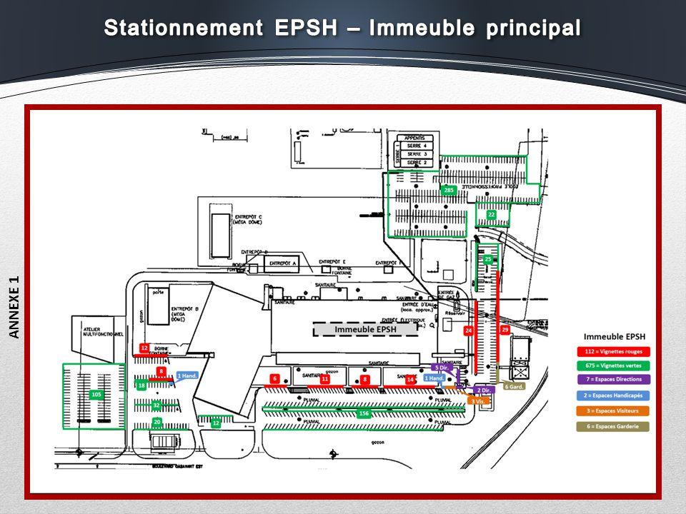 Stationnement EPSH – Immeuble principal
