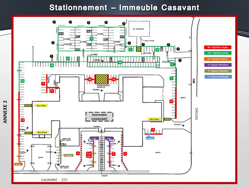 Stationnement – Immeuble Casavant