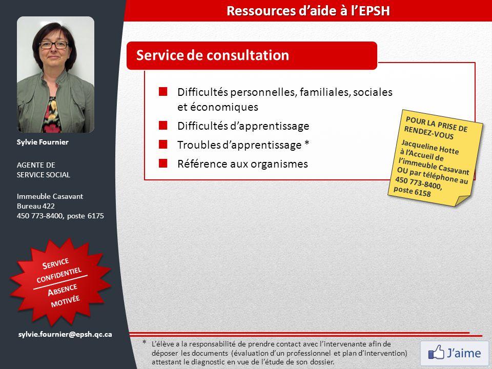 Ressources d'aide à l'EPSH