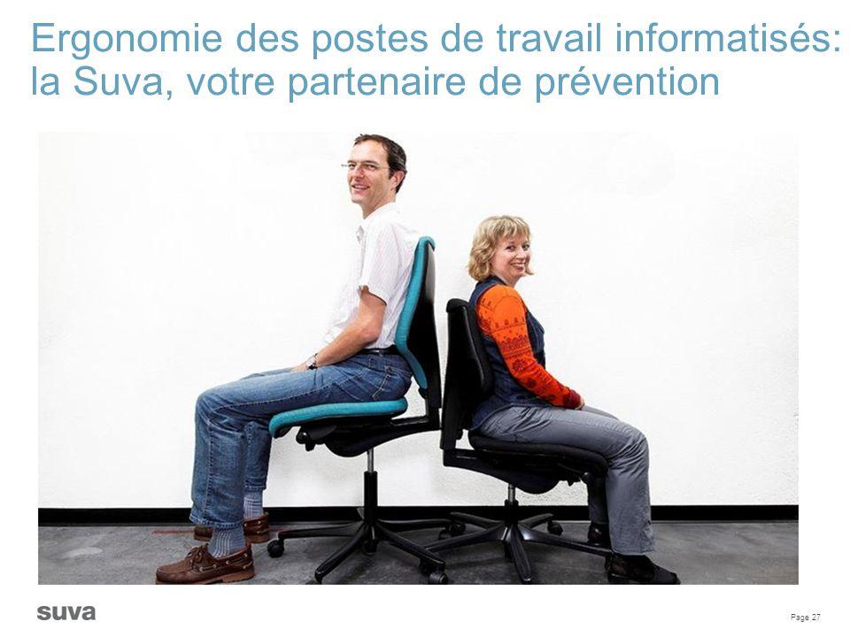 Ergonomie des postes de travail informatisés: la Suva, votre partenaire de prévention