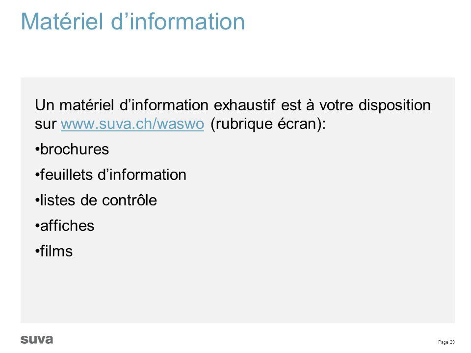 Matériel d'information